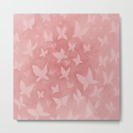 Blushing Butterflies Metal Print