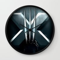 lannister Wall Clocks featuring X-MEN THE MUTAN CLAW by BeautyArtGalery