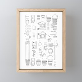 Photographer Kit V2 Framed Mini Art Print