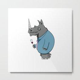 Rhino! Metal Print