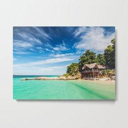 Cuba Beach At The Ocean Metal Print