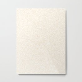 Spacey Melange - White and Champagne Orange Metal Print