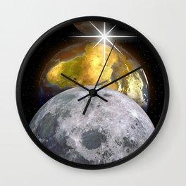 Planets Swan by GEN Z Wall Clock