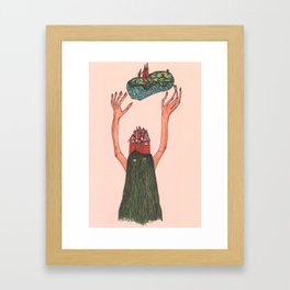 Cousin Itt Framed Art Print