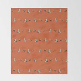 Flying Birds Upon Sunset Throw Blanket
