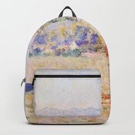 Claude Monet - Grainstacks in the Sunlight, Morning Effect.jpg Backpack