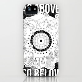 As Above, So Below - Zodiac Illustration iPhone Case