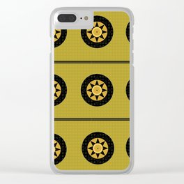 Black sun band Clear iPhone Case