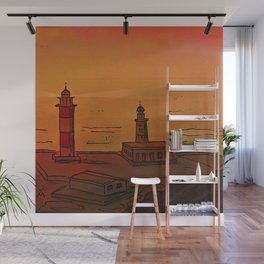 Good Morning / New and Old Lighthouse Fuencaliente La Palma Wall Mural