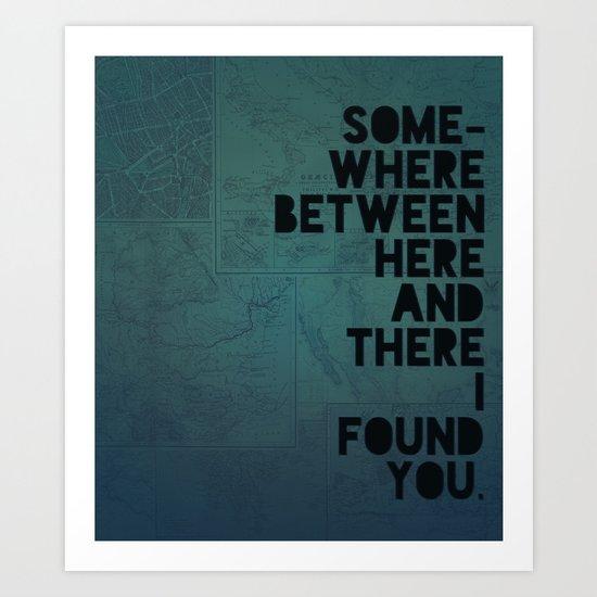 Here & There II Art Print