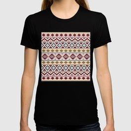 Aztec Essence Ptn III Red Blue Gold Cream T-shirt