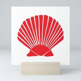 Red Seashell Mini Art Print