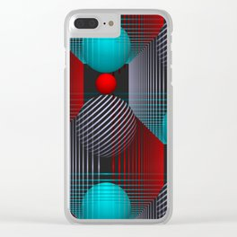 3D - abstraction -90- Clear iPhone Case