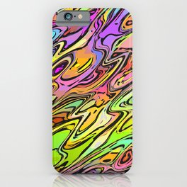 Vivid colorful hippie day iPhone Case