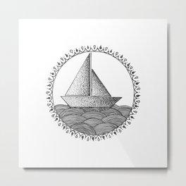 Sailing Boat Metal Print