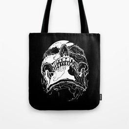 Carnibal / Ink Skull / White Tote Bag