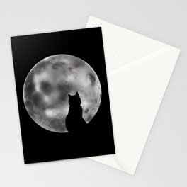 Talking To The Moon  Stationery Cards