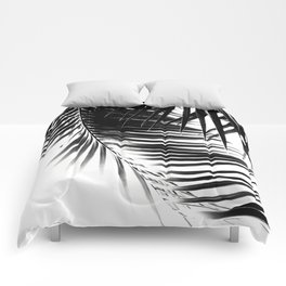 Palm Leaves Black & White Vibes #1 #tropical #decor #art #society6 Comforters