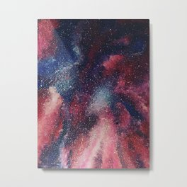 Red Galaxy Night Metal Print