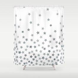 STARS SILVER Shower Curtain