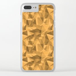 Abstract Geometrical Triangle Patterns 3 VA Bright Marigold - Spring Squash - Pure Joy - Just Ducky Clear iPhone Case