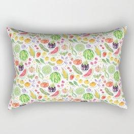 Summer Harvest Pattern Annotated Rectangular Pillow