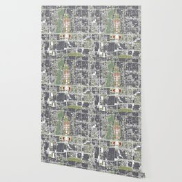 Beijing city map engraving Wallpaper