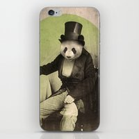 panda iPhone & iPod Skins featuring Proper Panda by Chase Kunz
