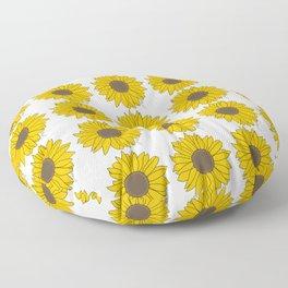 Sunflower Power Floor Pillow