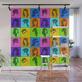 60s hairstyles Wall Mural