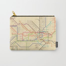 Harry Beck's original Underground map receation for 2020 Carry-All Pouch