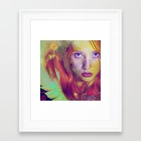 angel Framed Art Prints featuring Angel by Ganech joe