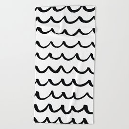 On the Same Wavelength Beach Towel