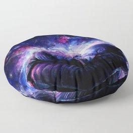 Lovers in Space Floor Pillow