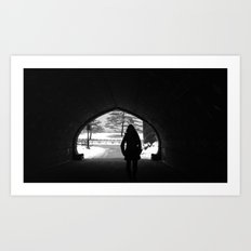 Central park silhouette Art Print