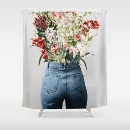 Bottomless Bouquet Shower Curtain