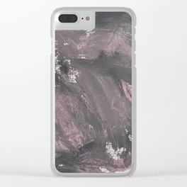 Red Chalk and Black Ink Clear iPhone Case