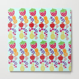 Fruit Pattern Metal Print