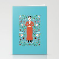 mary poppins Stationery Cards featuring Mary Poppins by Carly Watts