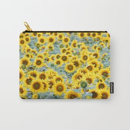 Field of Sunflower Yellow Carry-All Pouch