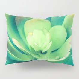 Surreal, Avant-Garde Succulent Boldly Blooming Pillow Sham