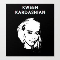 kim kardashian Canvas Prints featuring KWEEN kardashian by Tiaguh