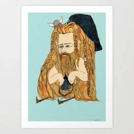 Viking man  Art Print