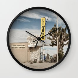 Liquor Store Yucca Valley Wall Clock