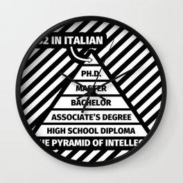 B2 in Italian Funny Italian Language Lover Gifts Wall Clock