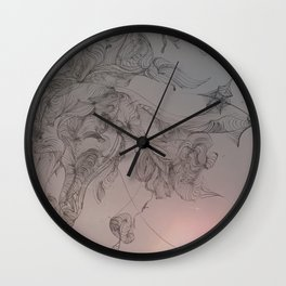 What Do You See? An Abstract View of Niagara Falls Wall Clock