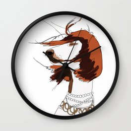 Messy Hair Don't Care Dog Wall Clock