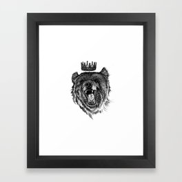 Berlin Bear King Framed Art Print