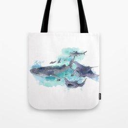 Star Sharks & Rays Tote Bag