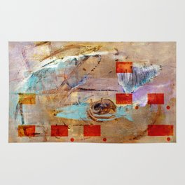 abstract in beige Rug